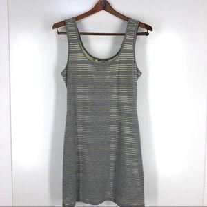 Guess tank dress shimmery stripes bodycon L